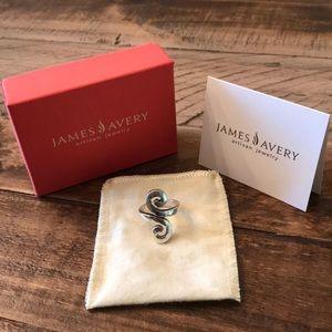 Retired Rare James Avery Hammered Swirl Ring